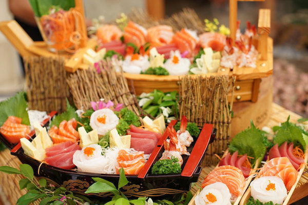 sushi sashimi catering in bali for events