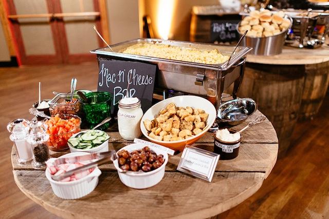 catering food bar mac n cheese