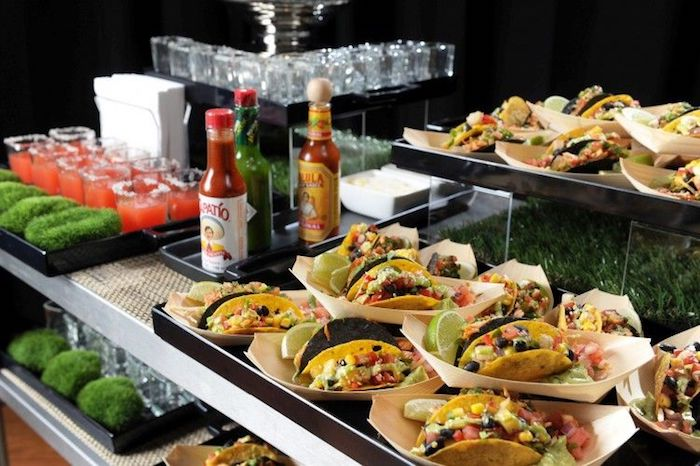 wedding catering services tacos station