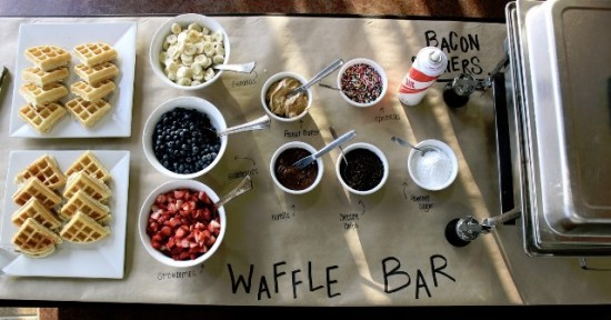 wedding food bar - waffle