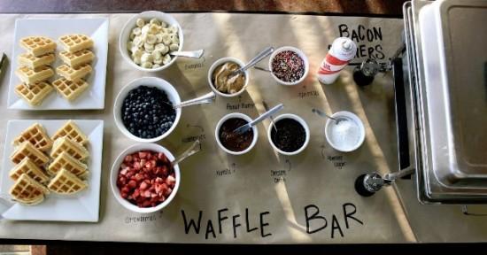 wedding food bar - waffle