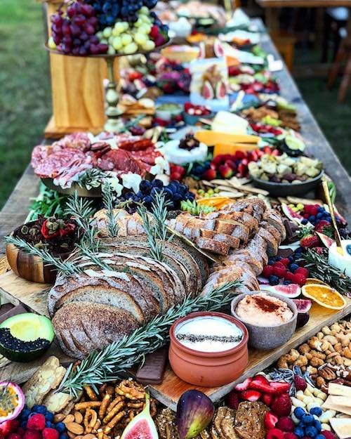 wedding grazing table catering
